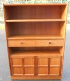 Teak Standing Open Bookcase by Nathan